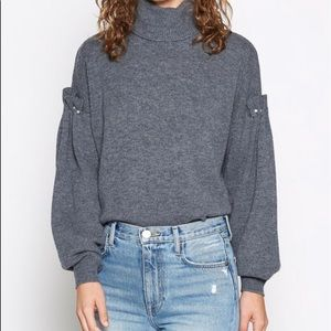 Joie Alaysia turtleneck sweater gray